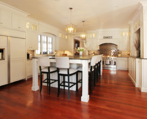 spacious kitchen in MA custom home