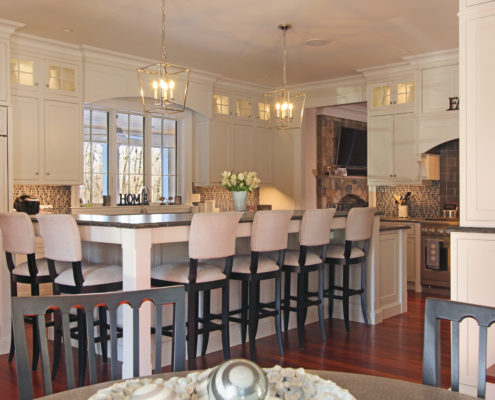 Westford MA custom home kitchen