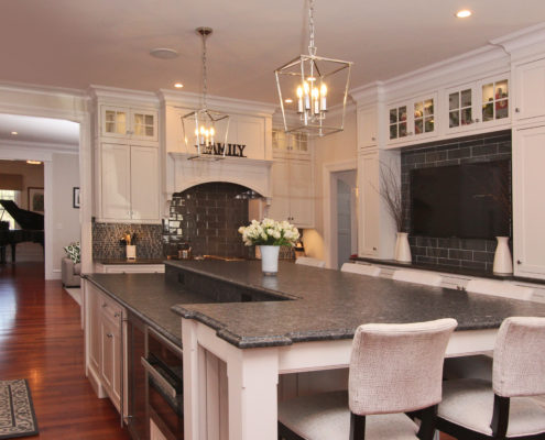 large kitchen in custom home
