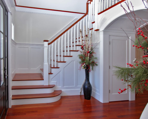 beautiful staircase in custom home