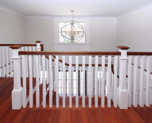entry staircase MA custom home