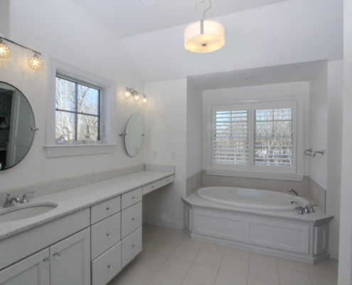 master bath in custom home MA