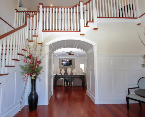 custom home staircase Westford MA