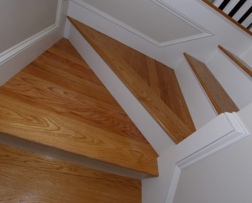 stair detail custom home