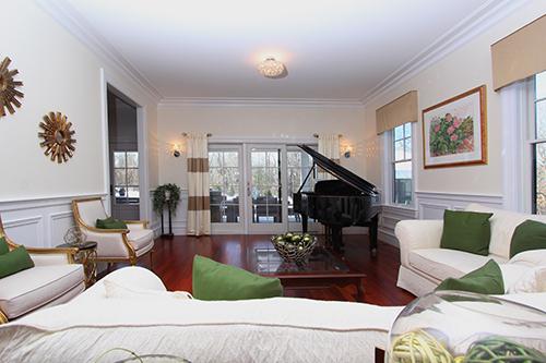 living area custom home MA