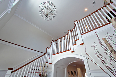 soaring staircase custom home MA